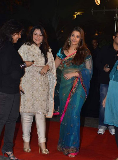 Aishwarya Rai in Saree at Filmfare Nominations Party 
