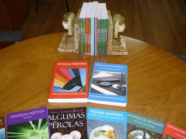 Meus livros virtuais e em papel