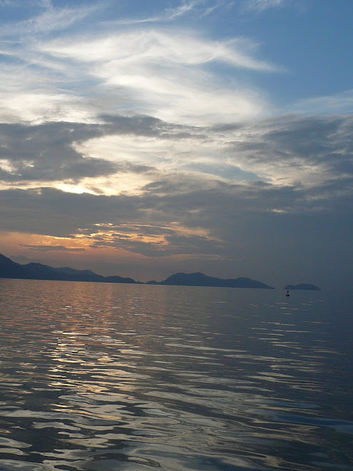 setting sun on the way to Ko Chang