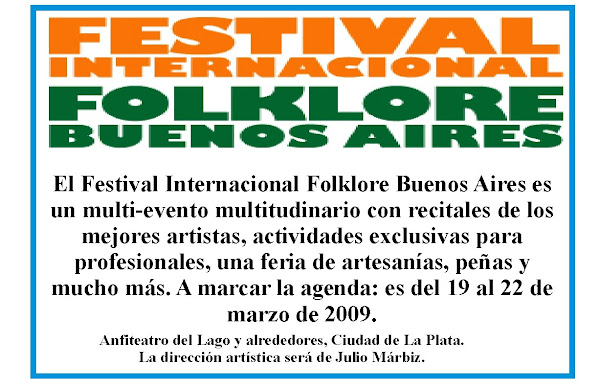 1º Festival Internacional de Folclore Bs As 2009