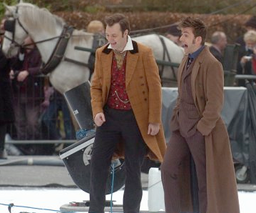 David Tennant and David Morrissey in the 2008 Doctor Who Christmas Special