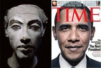 Pharaoh Akhenaten Obama http://shavingmyshoulders.blogspot.com/2009/06/pharaoh-obama.html