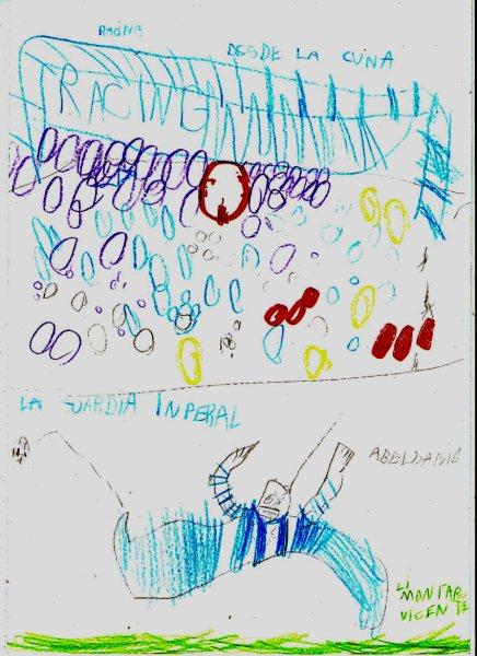 El visionario Viten.. Dibujo de AVELDAÑO, GOL de AVELDAÑO...