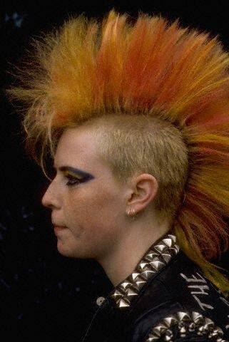 Мужские прическа в стиле панк