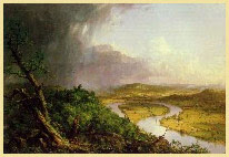 An early tribute to the Valley's beauty -- Thomas Cole's View from Mount Holyoke, Northampton, Massachusetts, after a Thunderstorm (The Oxbow), 1836