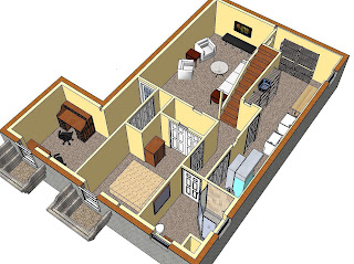 SketchUp and My Basement Remodel | Kris Bunda Design
