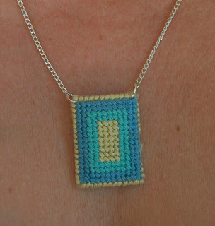 crafty jewelry: needlepoint pendants, more ideas