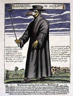 bubonic plague doctor. a plague doctor! The Black