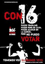 Por el derecho a voto a los 16