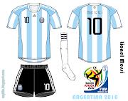 Selección Argentina 2010/12 (home .amp; away) argentina mundial messi