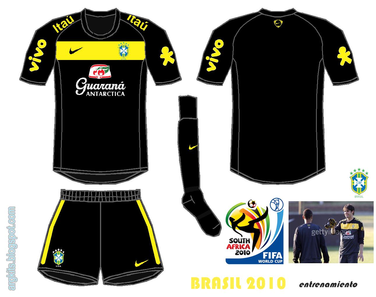 Brasil 2010 (Uniforme de entrenamiento)