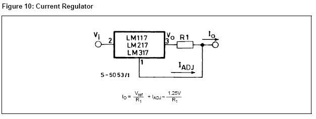 LM317 circuito recomendado