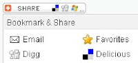 Sharethis social bookmarking button
