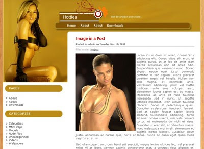 Sexy WordPress theme ' Wood Hotties '
