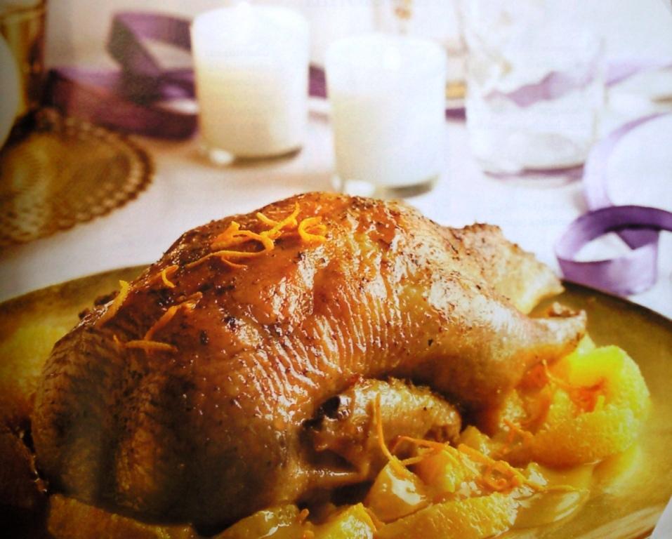 las recetas de rosa pato asado al horno a la naranja