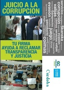 """Campaña Nacional """"Juicio a la Corrupción"""" en Córdoba"""