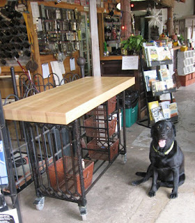 black dog salvage architectural antiques amp custom white iron kitchen island with butcher block chairish