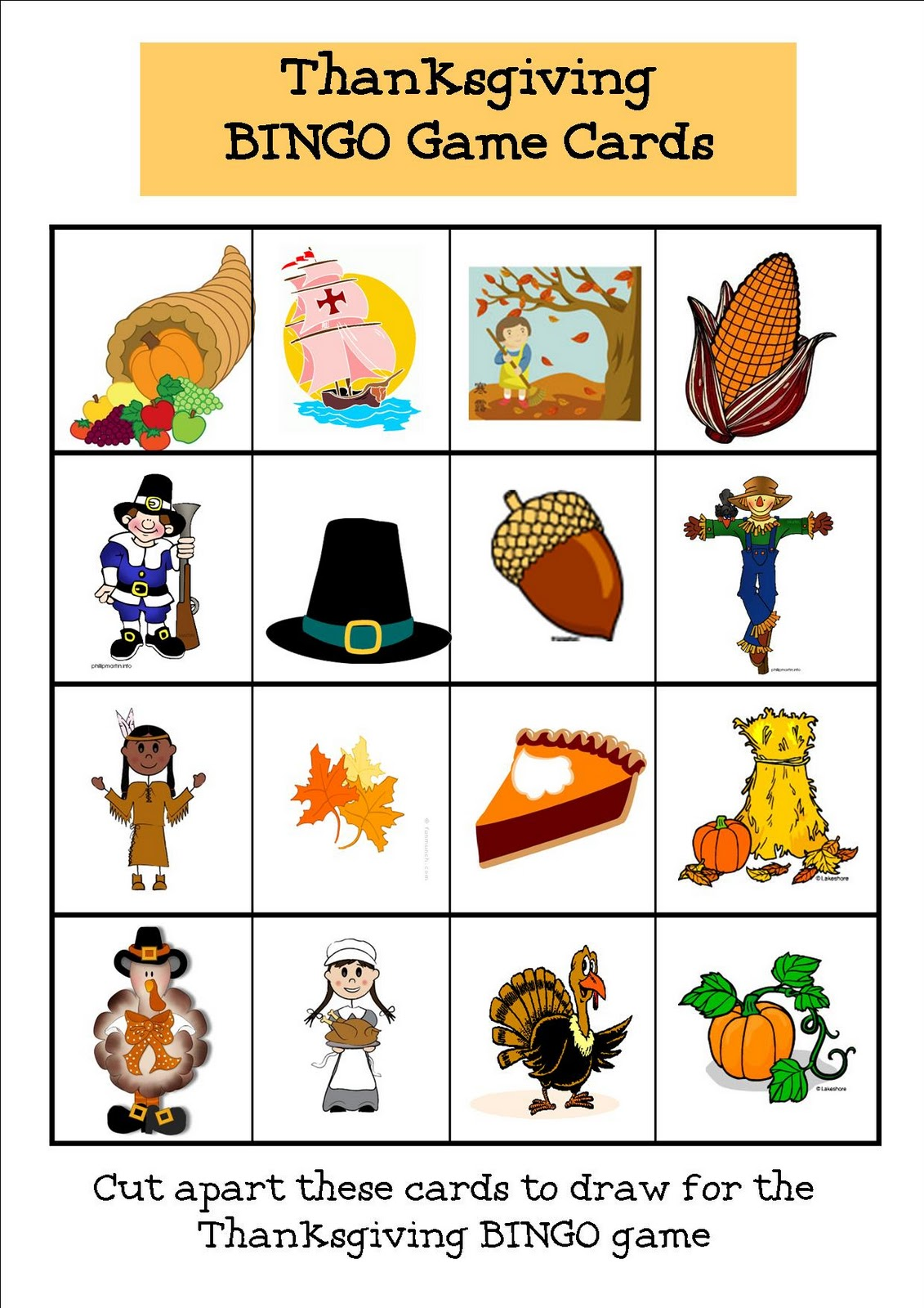 It's just an image of Punchy Thanksgiving Bingo Cards Printable