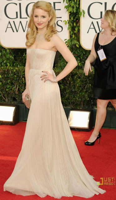 Glee's Dianna Agron on the 2011 Golden Globes redcarpet