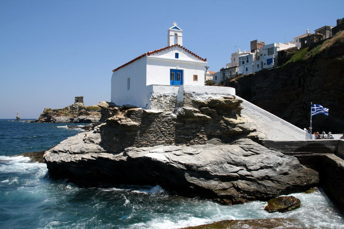 Cyclades Islands In Greece Walking On Andros
