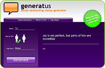 Generatus:社交狀態生成器