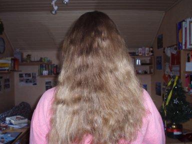 Haare sind rau