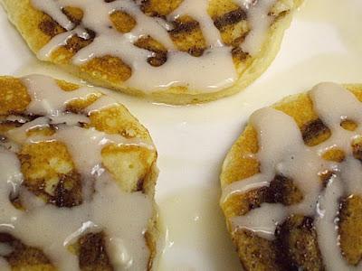 Cinnamon Roll Pancakes frugalanticsrecipes.com