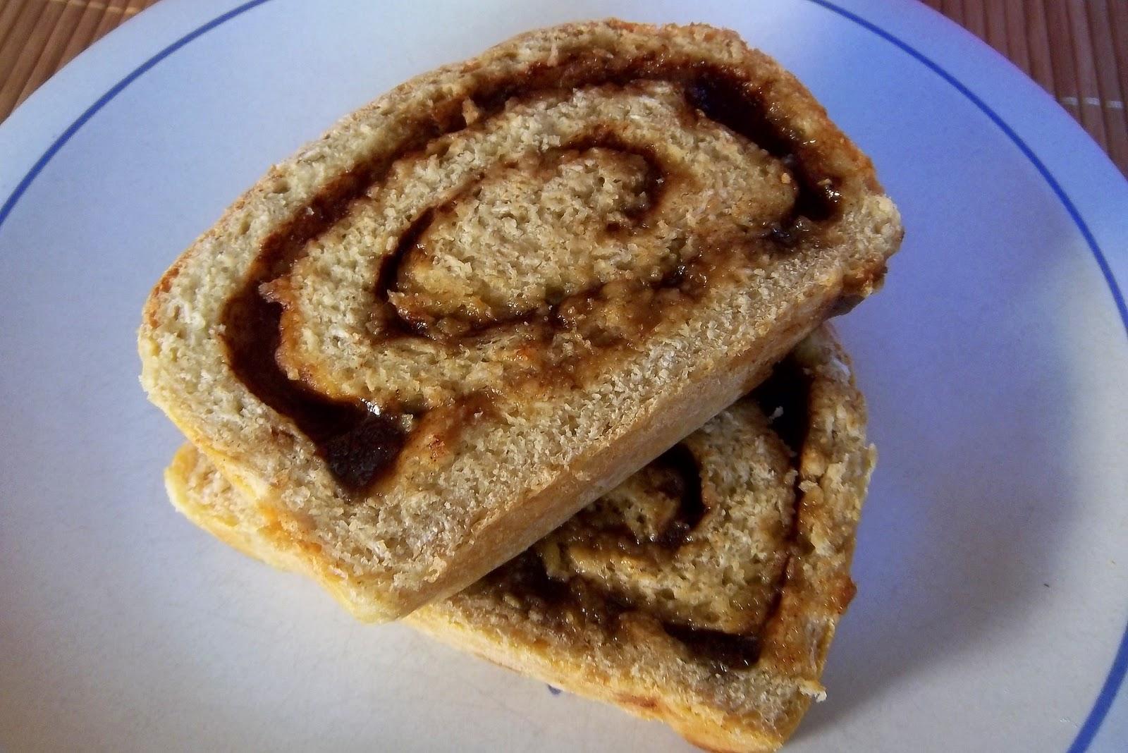 Maple and Brown Sugar Swirl Oatmeal Bread