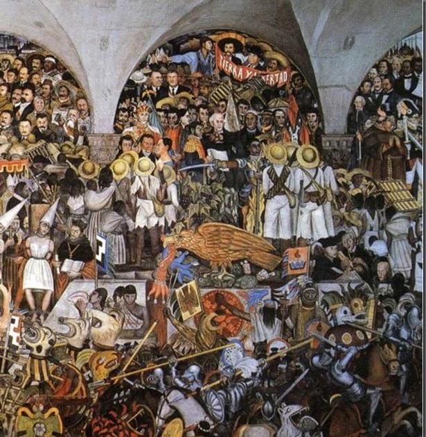 La espina roja la historia de m xico mural de diego rivera for Diego rivera mural 1929