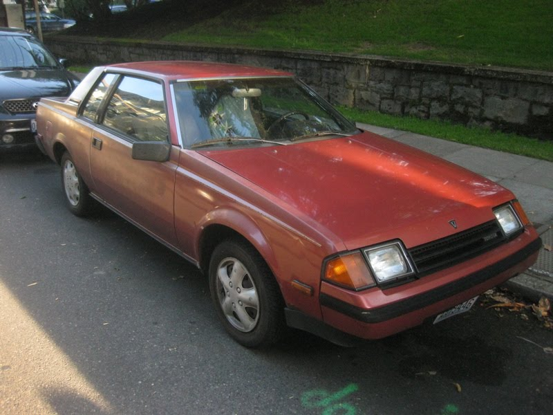 OLD PARKED CARS.: 1982 Toyota Celica GT Notchback Coupe.