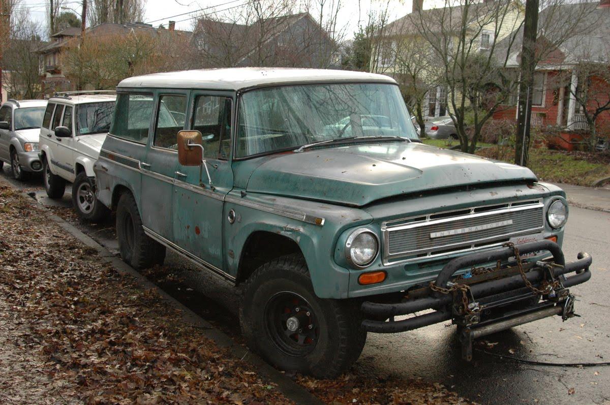 Old International Harvester : Old parked cars international harvester travelall