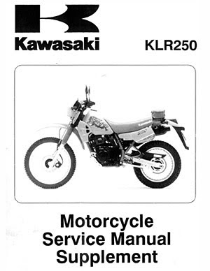 kawasaki klr250 if there is any one thing that new klr250 owners ask the most it would be where to get a service or repair manual while most motorcycle owners can easily