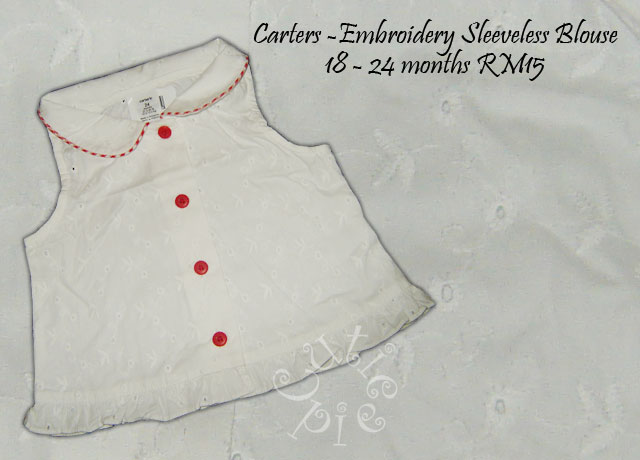 Carters - 100% Embroidery White Blouse