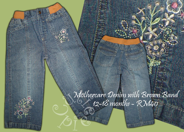 Mothercare Denim with Brown Band