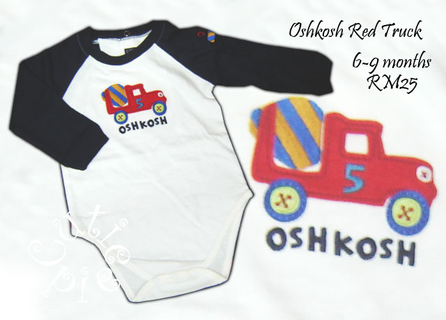 Oshkosh Red Truck Romper