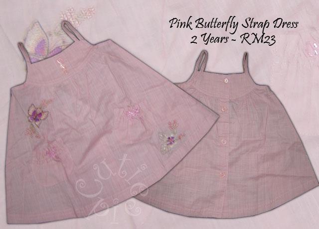 Pink Butterfly Strap Dress