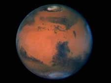 Mars, as seen by the Hubble Space Telescope in 1997