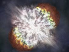 Artist concept of supernova SN 2006gy, viewed by Chandra on May 7, 2007