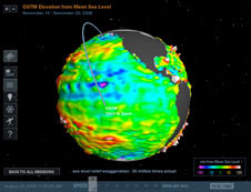 Enhanced capabilities of NASA's Eyes on the Earth visualization tool include displays of the recent data maps of ozone, sea level or carbon dioxide and a video tour