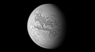 Titan, seen during Cassini's flyby on March 31, 2005