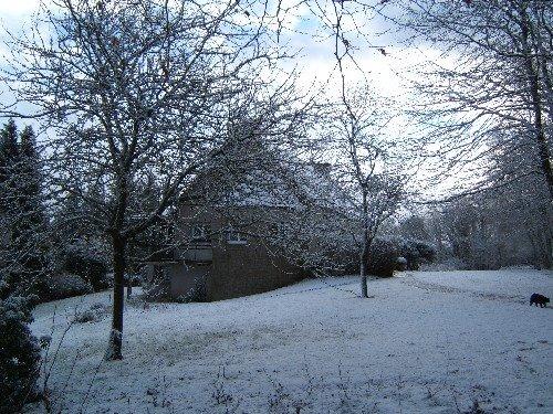 Notre maison sous la neige ...yes ...