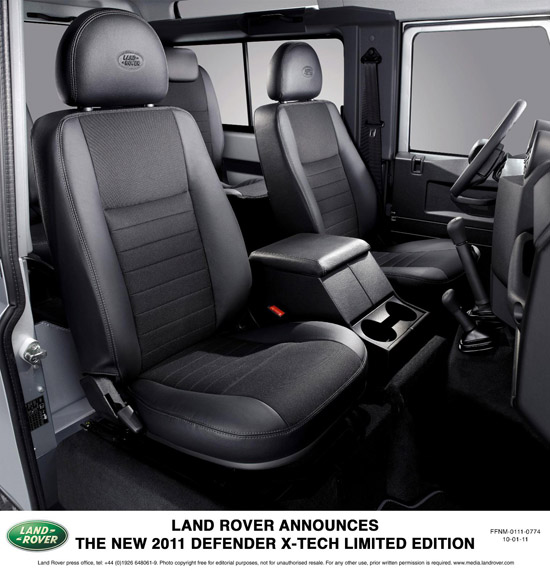 Land Rover Unveils The New 2011 Defender X-TECH Limited