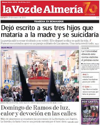 El Domingo de Ramos en la prensa