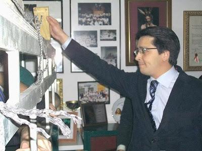 Manuel Guzmán de la Rosa en la primera 'levantá' de la Esperanza Macarena