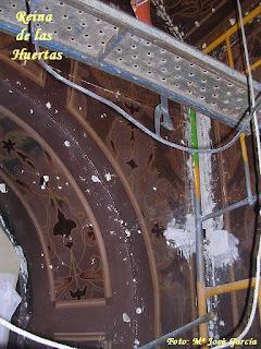 Han comenzado las obras de restauración del camarín de la Virgen del Carmen de San Sebastián