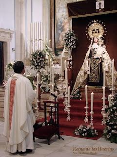 Esta tarde felicitación sabatina a la Virgen del Carmen de San Sebastián