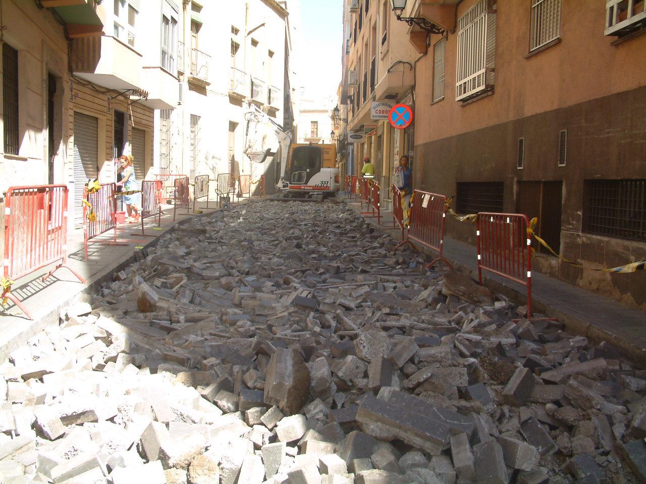 Comienzan las obras de la calle Lope de Vega