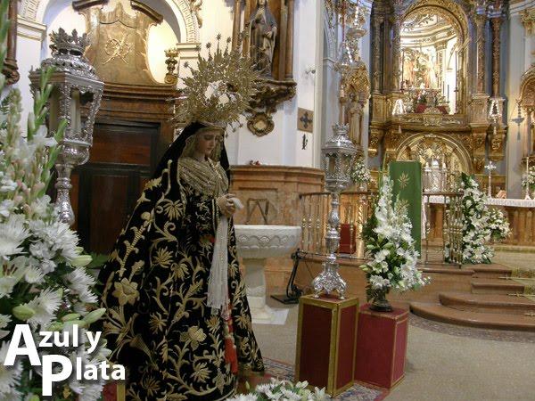 Presentada en Málaga la restauración de la Virgen del Consuelo
