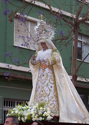 La Virgen de la Paz sale mañana en Rosario de la aurora
