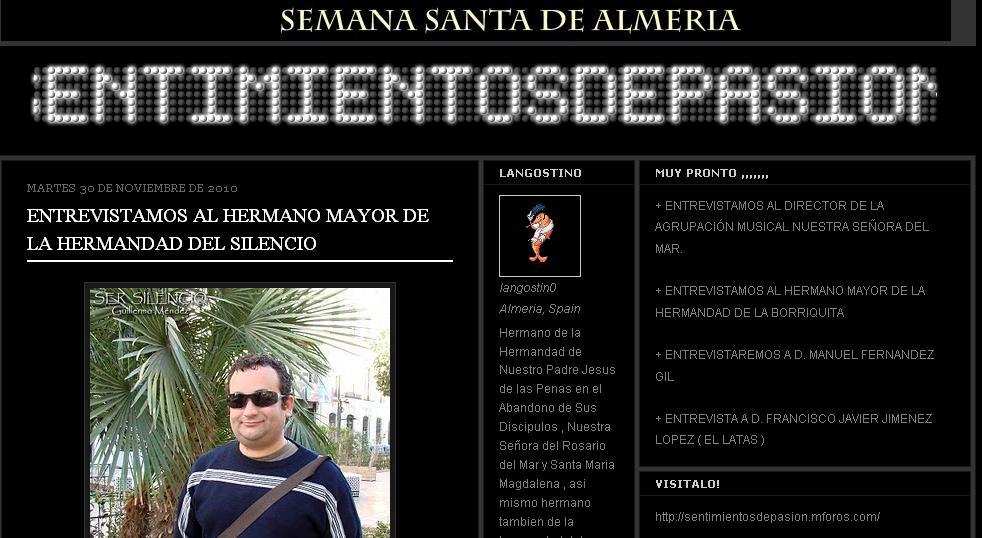 Entrevista al Hermano mayor del Silencio en 'Sentimientos de Pasión'